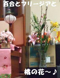 ダンナ母持参の桃の花~♪