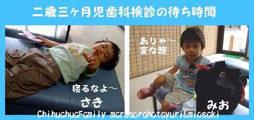 二歳三ヶ月児歯科検診