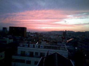 岡山の夕日