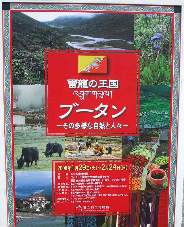 国立科学博物館 雷龍の王国ブータン