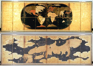 世界図にはポルトガルから ...