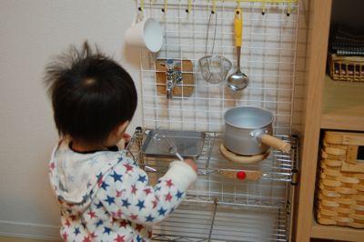 100円 子ども用キッチン 手作り