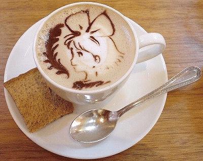 三鷹の森ジブリ美術館 コーヒーアート