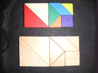 ダイソータングラム対ハナヤマ ... : タングラム パズル : パズル