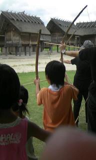 弓矢に挑戦!