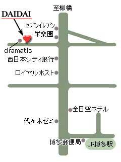 博多DAIDAIの地図