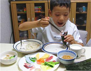手巻き寿司    20080525