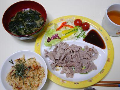 夕食 20050729