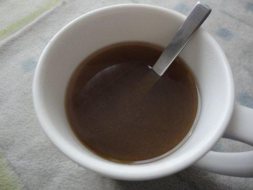 黒糖しょうがパウダーinお湯(笑)
