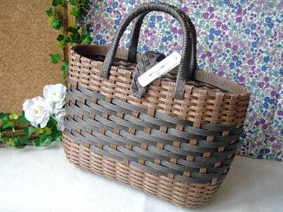 カテゴリ:エコクラフト. とばし編みのバッグ