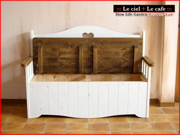 カントリー家具ベンチボックス