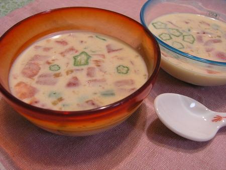 豆乳の冷製スープ