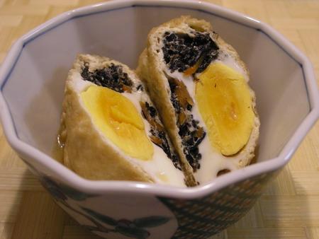 ひじきと卵の袋煮