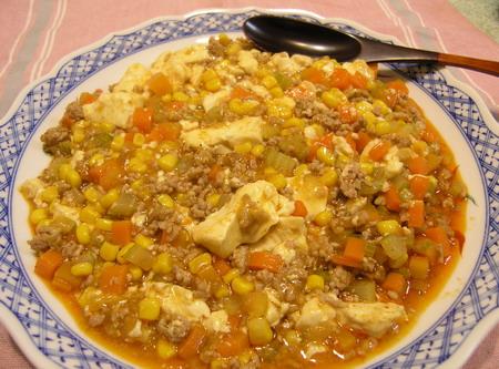 野菜いっぱいマーボー豆腐