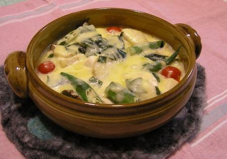 豆腐とオクラのグラタン