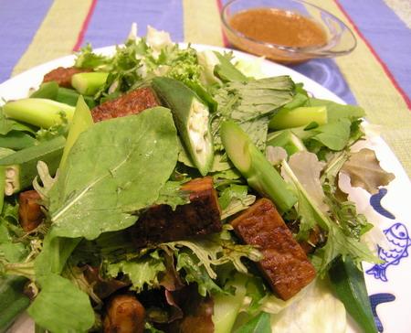 テンペのサラダ