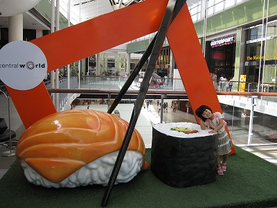巨大お寿司のオブジェ