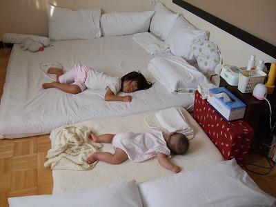 赤ちゃん仕様の寝室