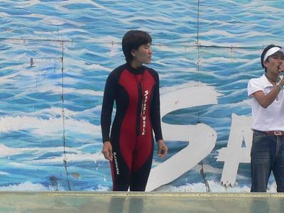 イルカのトレーナー(おかま)