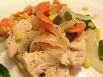 19 鶏肉と野菜の蒸し焼き ポン酢ソース.jpg