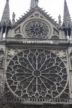 パリのノートルダム寺院の裏庭で・ ・・ココロに刻まれていたもの・・