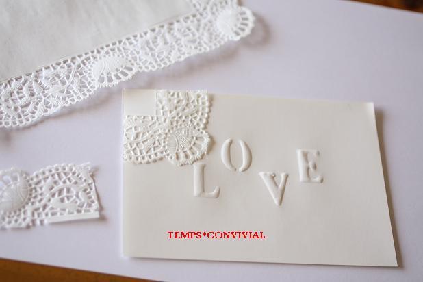ヴァレンタイン手作りエンボスカード