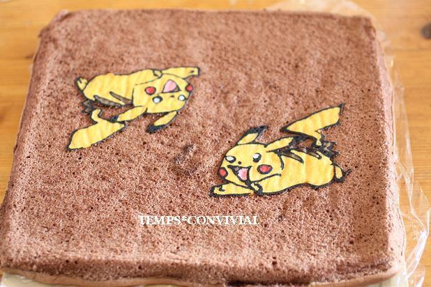 ぴかちゅうのデコロールケーキ
