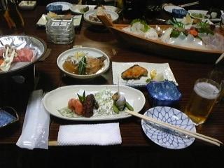 女岩荘の料理