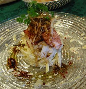 オマール海老とセロリ、リンゴのサラダ