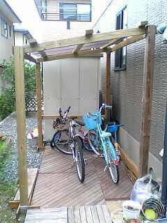 mazra日記 ... : 自転車置き場のDIY ...