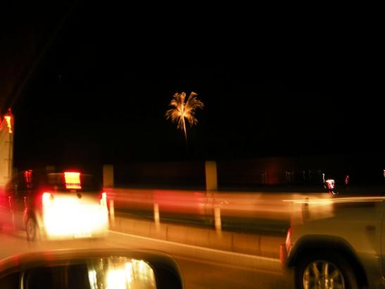 車中からの花火