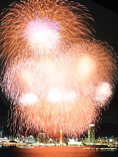 みなとこうべ海上花火大会 (携帯待受画像)