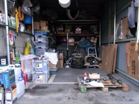 ガレージ掃除一旦完了