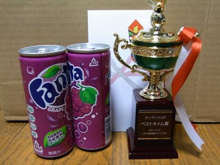 クンサンカップ ベストタイム賞