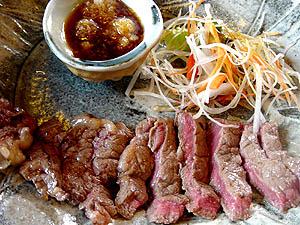 丹波牛ステーキ定食(多分1,800円くらい)