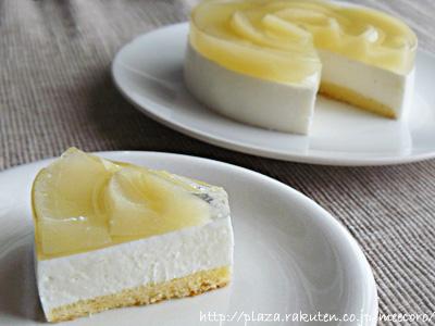 桃のヨーグルトムースケーキ