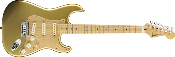 Fender USA FSR American Deluxe Stratocaster Aztec Gold/Maple w/Gold Anodized Pickguard