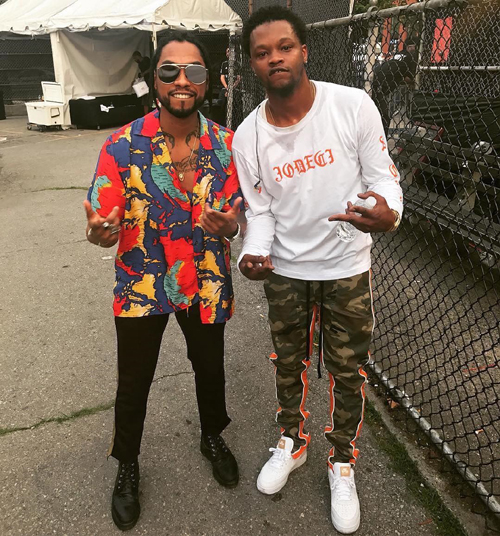 Miguel-BJ-The-Chicago-Kid-Rhude-pants-Gentry-Garb-pants-Nike-sneakers.jpg