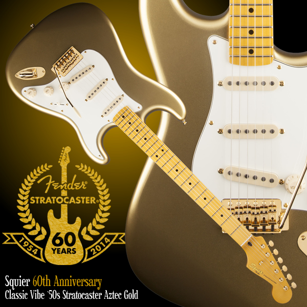 Squier by Fender 60th Anniversary Classic Vibe 50s Stratocaster Aztec Gold.jpg