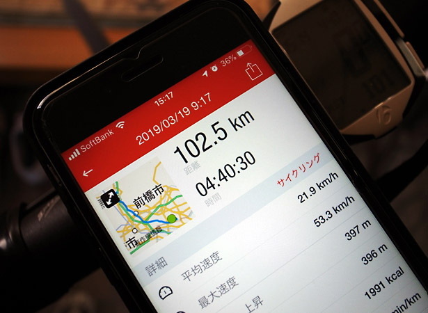 102.5kmの旅
