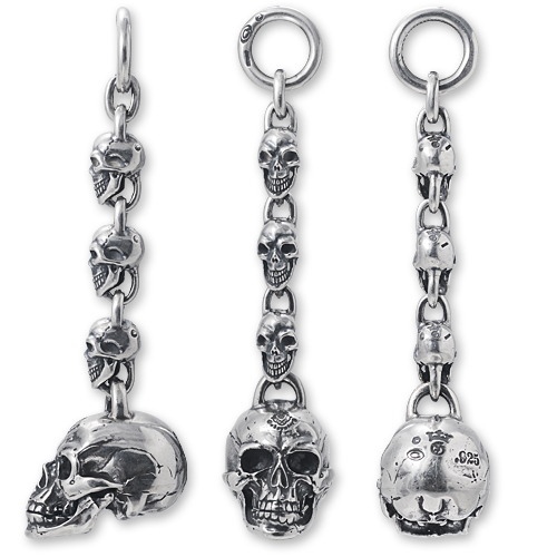 Custom_Large Skull with 3Skull Links KeyChain_03.jpg