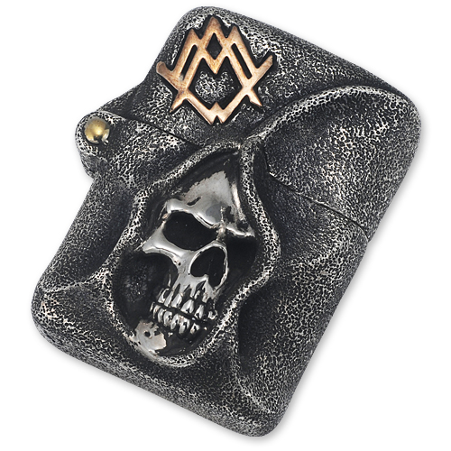 amzl005_One Off Grim Ace Solid Sterimg Lighter with Brass Accents_01.jpg