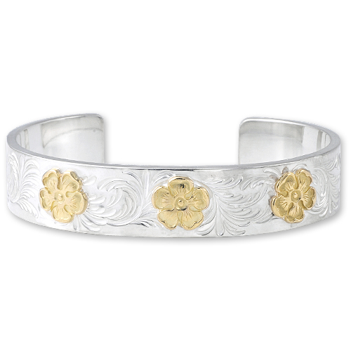 WSB11S_MKFM_S arabesque design 12mm bangle_M K18 flower metal_01.jpg
