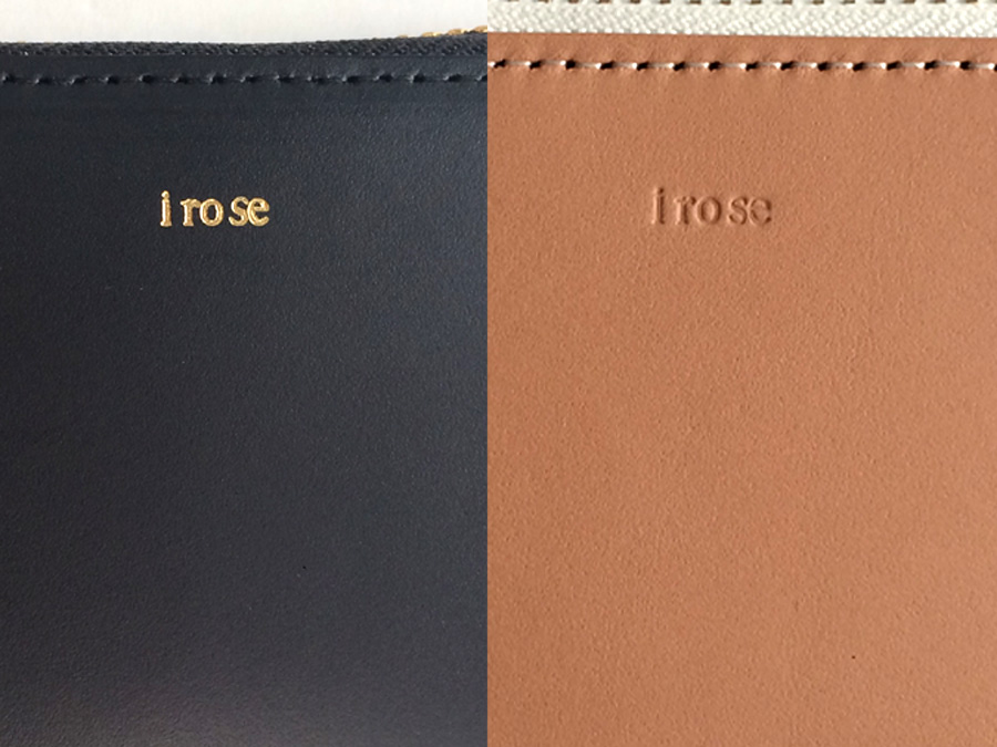 irose POP UP MINI WALLET ロゴ 質感