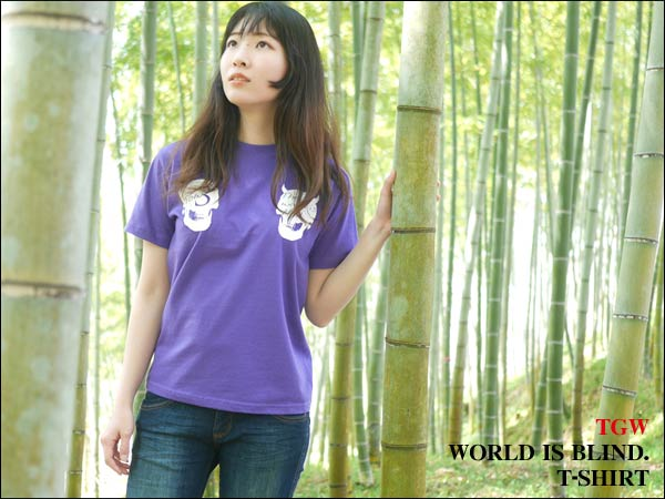 NEW!! The world is blind. TシャツをUP!!