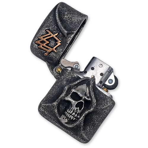 amzl005_One Off Grim Ace Solid Sterimg Lighter with Brass Accents_05.jpg