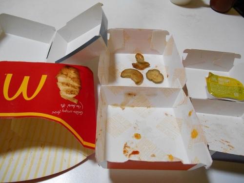 マクドナルド完食