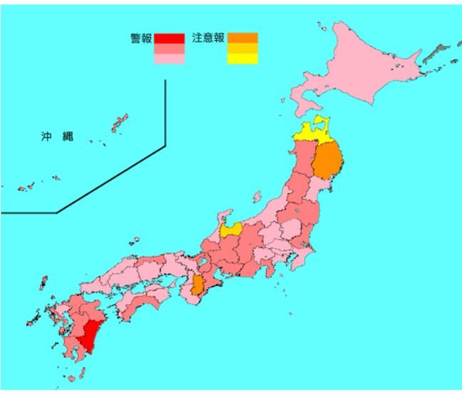 2020-05インフルエンザ流行マップ