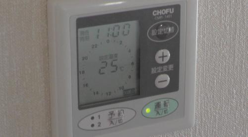床暖房の設定温度=25℃