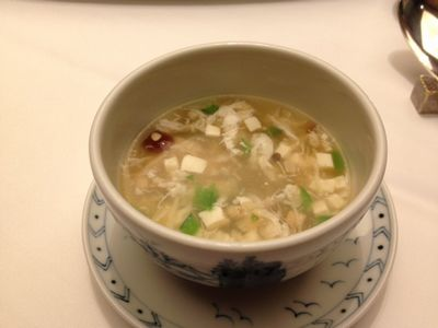 干し貝柱と豆腐のとろみスープ .JPG